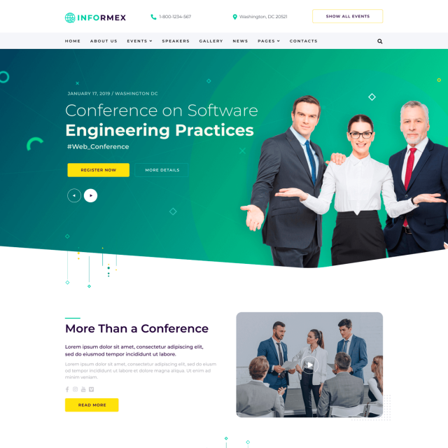 Informex | Conference & Business Html Site