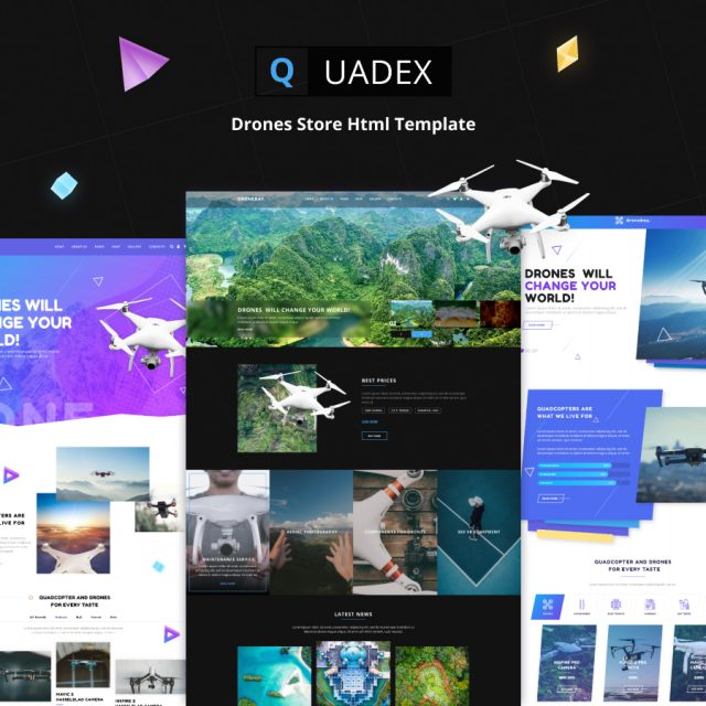 Quadex | Drones Store Html Site