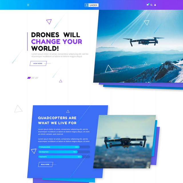 Quadex | Drones Store Html Site