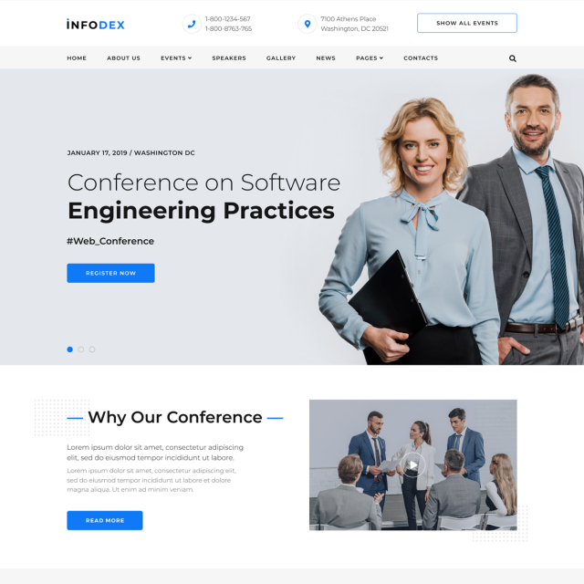 Infodex | Event & Conference WordPress Site