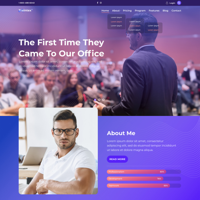 Traintex | Training & Coaching WordPress Site