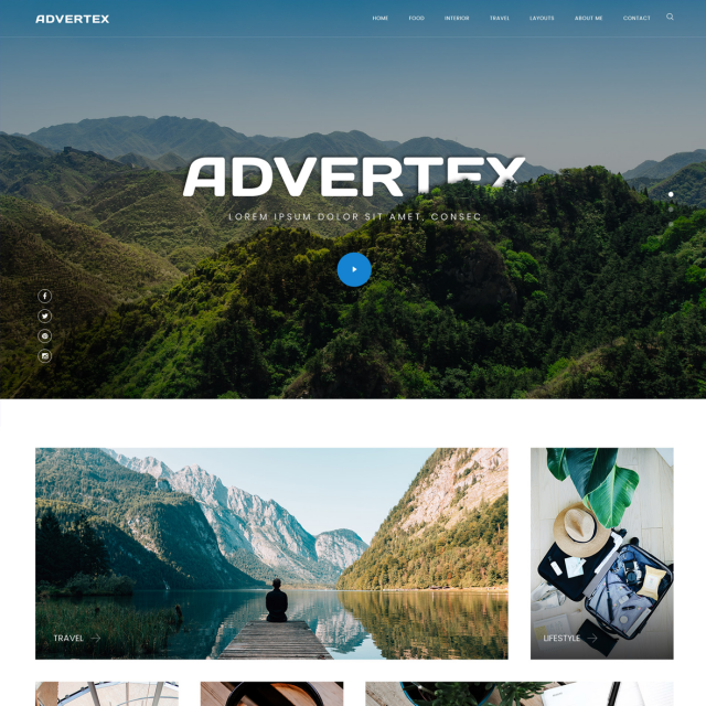 Advertex | Travel Personal Blog WordPress Site
