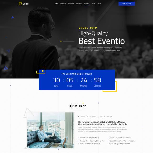 Giner | Multi-Concept Event WordPress Site
