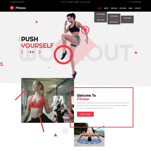 Fitmax | Gym and Fitness WordPress Site