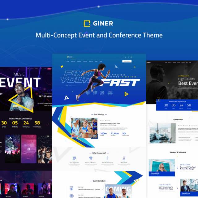Giner | Multi-Concept Event WordPress Site