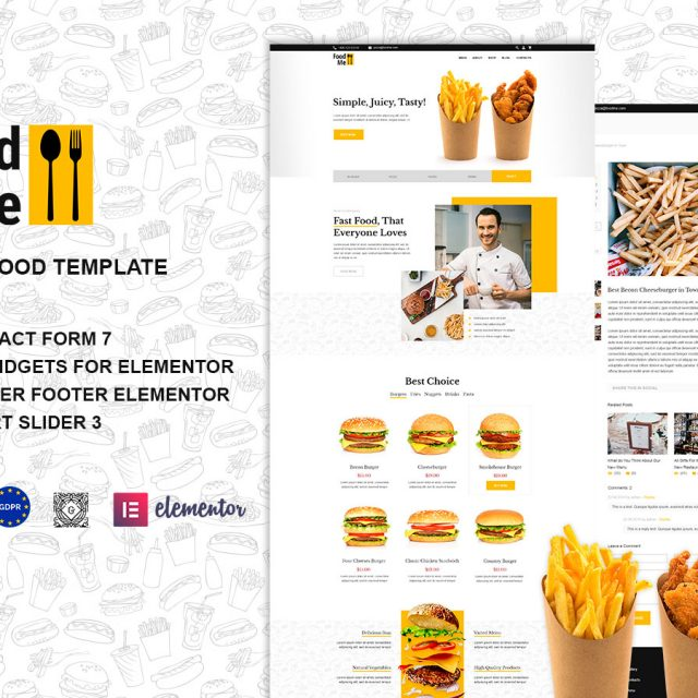 FoodMe | Fast Food & Restaurant WordPress Site